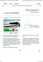 Optigreen-Newsletter Hiver 2016-2017