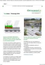 Optigreen Newsletter Printemps 2016